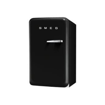 smeg 39 50 fab10lne r frig rateur avec compartiment freezer pose libre 55 cm noir achat. Black Bedroom Furniture Sets. Home Design Ideas