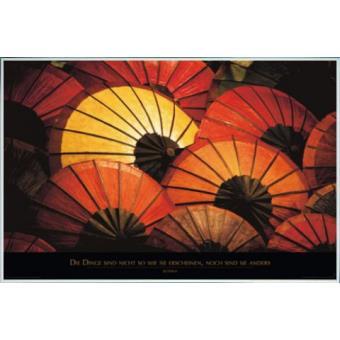 poster encadr motivation parapluies 61x91 cm cadre plastique blanc top prix sur. Black Bedroom Furniture Sets. Home Design Ideas