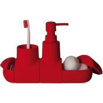 set d 39 accessoires salle de bains rouge porcelaine blue lagoon seletti achat prix fnac. Black Bedroom Furniture Sets. Home Design Ideas