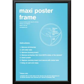 cadre pour affiches noir maxi moulage courbe achat prix fnac. Black Bedroom Furniture Sets. Home Design Ideas