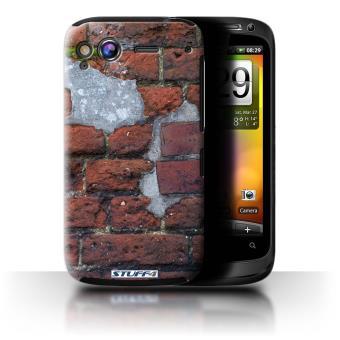 pour HTC Desire S / Ciment/Rouge Design / Maçonnerie Collection