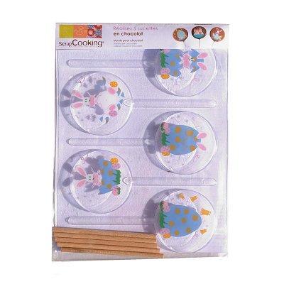 Image du produit ScrapCooking® - Moule à sucettes chocolat - Pâques x5