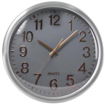 horloge murale silencieuse design cadran gris top prix fnac. Black Bedroom Furniture Sets. Home Design Ideas