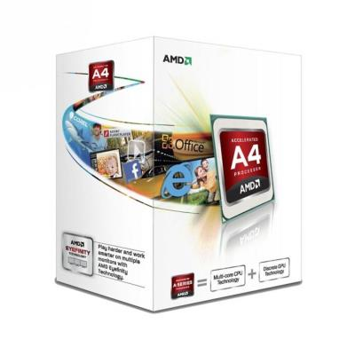 Caractéristiques principales : - Description du produit : : AMD série A processeur. - Description du produit : : AMD série A A4-4000 / 3.2 GHz processeur. - Type de produit : : Processeur. - Type de Processeur : : AMD série A A4-4000. - Type de Processeur