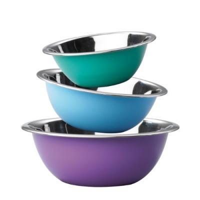 Image du produit jürgen klein s58c king candy lot de 3 bols turquoise/bleu clair/lilas 17 / 20 / 24 cm