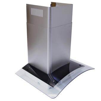 Hotte cuisine 70cm large verre incurv extraction for Ventilation hotte cuisine