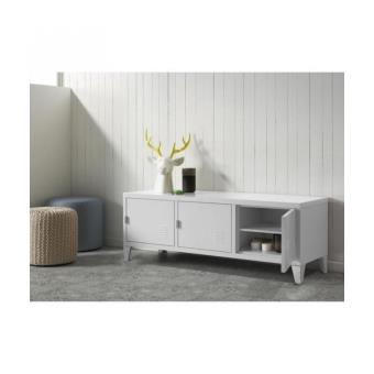 college meuble tv 120 cm m tal blanc achat prix fnac. Black Bedroom Furniture Sets. Home Design Ideas