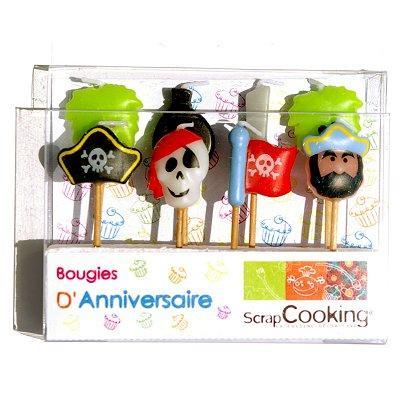 Image du produit ScrapCooking® - Bougies à piquer - Pirates : Lot de 8
