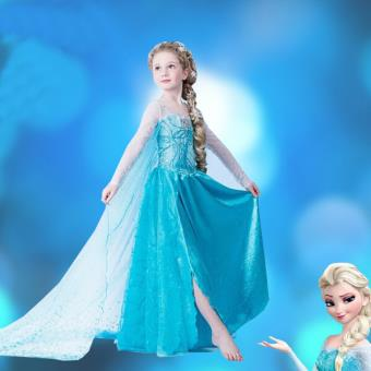 la reine des neiges robe enfant elsa d guisement achat. Black Bedroom Furniture Sets. Home Design Ideas