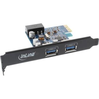 InLine 76662B. Interface de lhôte PCIe, Interface de sortie USB 3.0. Taux de transfert de données (max) 5 Gbit s. Largeur 7 cm, Profondeur 12 cm, Hauteur 1,8 cm Caractéristiques - Interface de lhôte PCIe - Interface de sortie USB 3.0 - Interne Oui - Quant