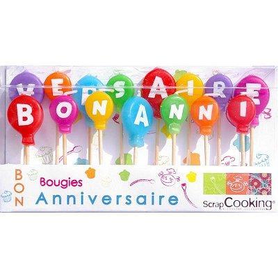 Image du produit ScrapCooking® - Bougies à piquer - Bon anniversaire : Lot de 15