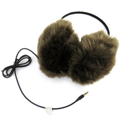 Les casques audio deviennent de véritables accessoires de mode, les modèles se multiplient au gré des imaginations . . . . modèle cache oreilles ´Scarlett´ en fourrure synthétique. Taille unique.