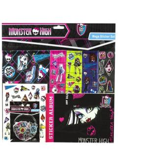 Mega set stickers monster high mattel achat prix fnac for Stickers monster high pour chambre