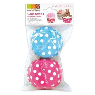 Image du produit Caissettes pour cupcakes Pois