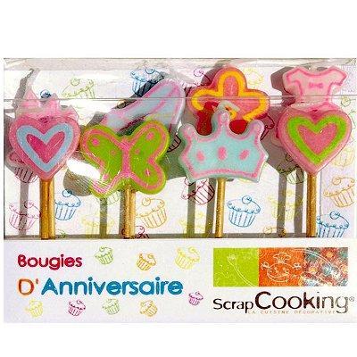 Image du produit ScrapCooking® - Bougies à piquer - Princesse : Lot de 8