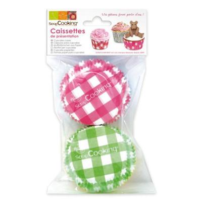 Image du produit Caissettes pour cupcakes Vichy