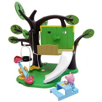 peppa pig treehouse playset la cabane dans l 39 arbre. Black Bedroom Furniture Sets. Home Design Ideas
