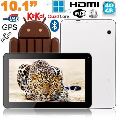 Cette tablette est propulsée par le système d´exploitation Android KitKat 4.4.2 qui est idéal pour ce modèle. Ce système d´exploitation est combiné avec un processeur Quad Core très efficace cadencé à 1.3 GHz, à qui s´ajoute 1 Go de mémoire vive pour une