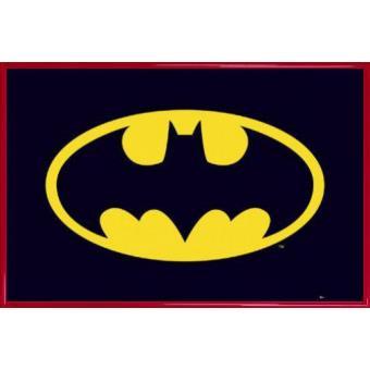 poster encadr batman logo classique 61x91 cm cadre plastique rouge top prix sur. Black Bedroom Furniture Sets. Home Design Ideas