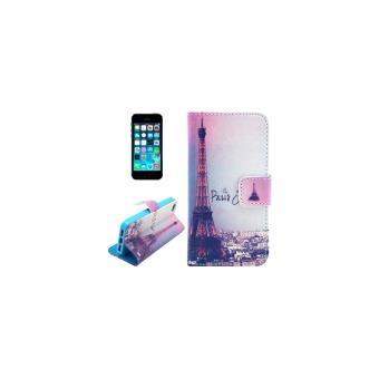 iphone 5 5s coque housse cuir pu tour eiffel achat prix fnac. Black Bedroom Furniture Sets. Home Design Ideas