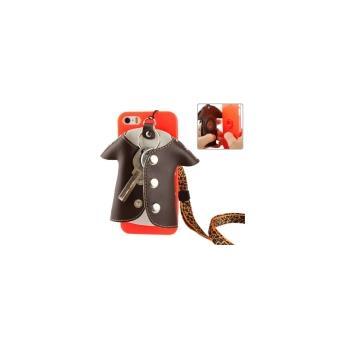 Iphone 5/5S : Coque Housse de Protection Plastique avec Porte  Clefs