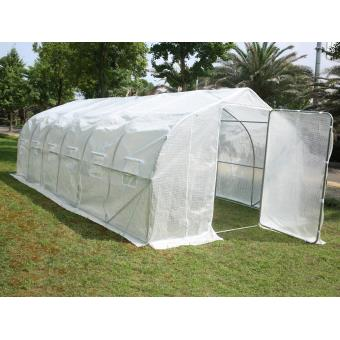 serre tunnel de jardin quot quot mimosa 2 quot quot blanc 18 m 178 6 x 3 x 2 m viva green achat prix fnac