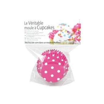 D coration culinaire atc cupcake pois fushia x45 achat for Decoration culinaire