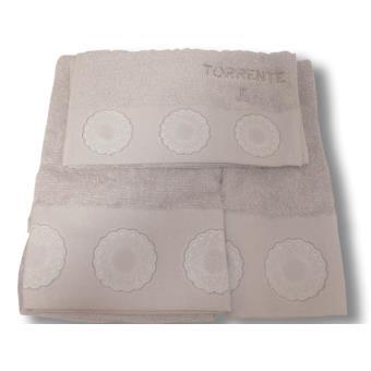 coffret de toilette 3 pi ces torrente broderie versailles gris clair achat prix fnac. Black Bedroom Furniture Sets. Home Design Ideas