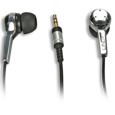 Idéal pour les voyages! - Convient pour les appareils avec prise Jack 2,5mm, par exemple: lecteur MP3, lecteur CD, iPod, etc.Ecouteurs avec prise Jack 2,5mm Couleur: noir/chrome Fréquence: 20~20000Hz Impédance: 32 ohms +/-15% Rendement: 108dB~112dB+/- 2dB