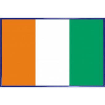 poster encadr c te d 39 ivoire drapeaux du monde 61x91 cm cadre plastique bleu top prix fnac. Black Bedroom Furniture Sets. Home Design Ideas