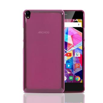 Coque archos diamond s housse silicone rose anti choc for Housse archos diamond s