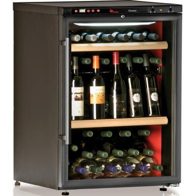 Cave à vin de vieillissement - 1 temp. - 64 bouteilles - Noir - CALICE - ACI-CAL200 - Pose libre