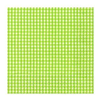 serviette papier cocktail vichy vert achat prix fnac. Black Bedroom Furniture Sets. Home Design Ideas