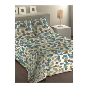 housse de couette 220x240 cm microfibre mentalo bleu 2 taies d oreiller 63x63 cm achat. Black Bedroom Furniture Sets. Home Design Ideas