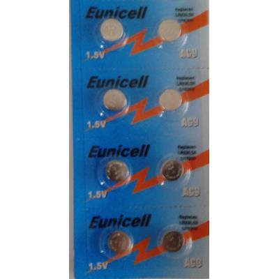 EUNICELL - Lot de 8 PILES AG9 LR936 SR936SW L936 394 V394 D394 SR939