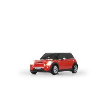 voiture rc mini cooper s rouge et blanche 1 18 achat prix fnac. Black Bedroom Furniture Sets. Home Design Ideas