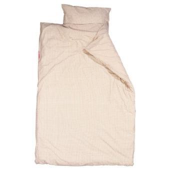 taftan housse de couette et taie d 39 oreiller vichy beige 100 x 135 cm beige achat prix. Black Bedroom Furniture Sets. Home Design Ideas