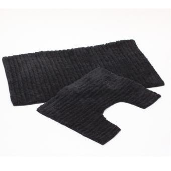tapis de salle de bain et contour wc 40 x 50 cm noir achat prix fnac. Black Bedroom Furniture Sets. Home Design Ideas