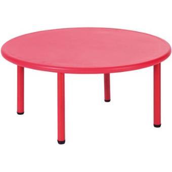 table ronde diam tre 115cm 8 places rouge achat prix fnac. Black Bedroom Furniture Sets. Home Design Ideas