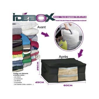 housse de rangement sous vide sac pour le linge id box 40 x 40 x 25 cm achat prix fnac. Black Bedroom Furniture Sets. Home Design Ideas