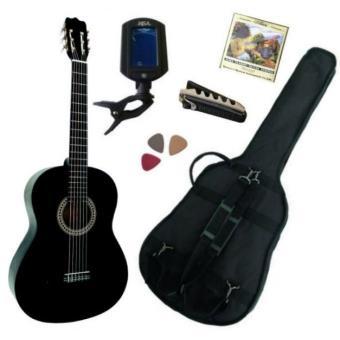 pack guitare classique 4 4 adulte gaucher avec 5 accessoires noire top prix fnac. Black Bedroom Furniture Sets. Home Design Ideas