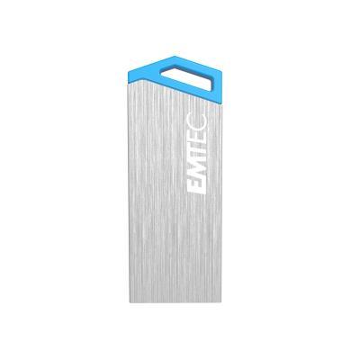Emtec S210 miniMetallic 32GB USB.2.0. Capacité 32 Go, Type dinterface USB 2.0, Vitesse de lecture 18 Mo s. Elément de format Autres, Couleur Bleu, Argent. Largeur 3.4 cm, Profondeur 1.2 cm, Hauteur 5 mm Caractéristiques - Capacité 32 Go - Type dinterface