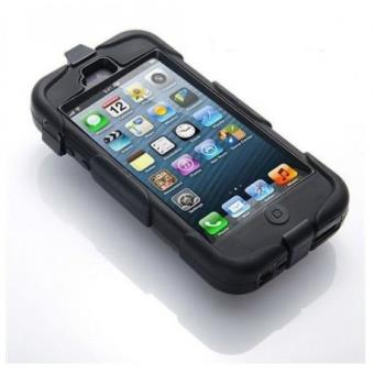 Coque etui int grale survivor militaire noir pour apple for Housse iphone 5 c