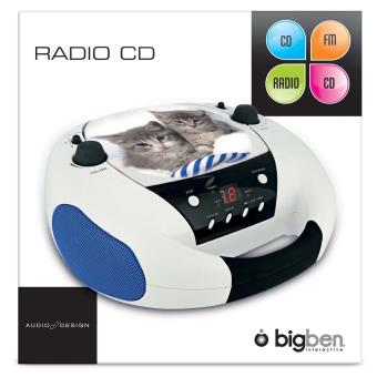 lecteur cd radio portable motif chat achat prix fnac. Black Bedroom Furniture Sets. Home Design Ideas