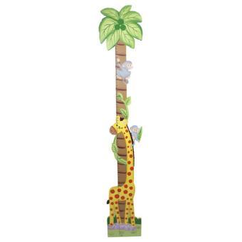 Toise en bois des animaux de la jungle bruno achat - Toise en bois personnalisable ...