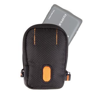 Housse tui noir orange pour appareil photo num rique for Housse appareil photo compact