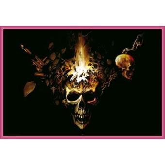 poster encadr gothique exploding skull 61x91 cm cadre plastique pink top prix sur. Black Bedroom Furniture Sets. Home Design Ideas