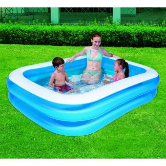 Piscine gonflable rectangulaire 211 x 132 x 46 cm for Piscine gonflable rectangulaire