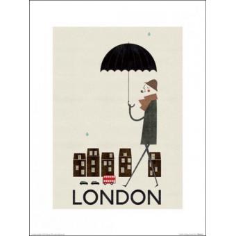 Poster Reproduction Anglais Avec Parapluie, Blanca Gomez (40x30 cm