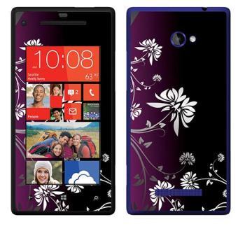 SKIN STICKERS POUR HTC WINDOWS PHONE 8X (STICKER : WHITE AND PURPLE